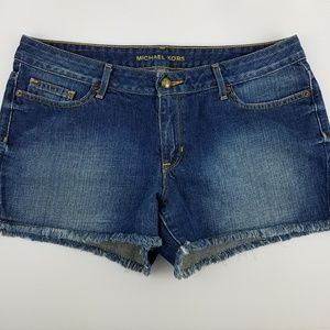 Michael Kors Vintage Wash Raw Hem Shorts 6